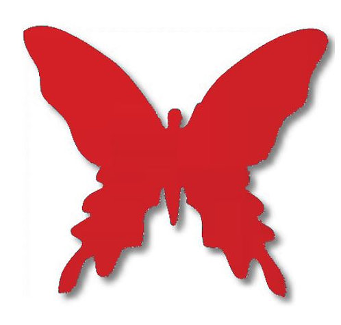 Butterfly pin board - 'red'