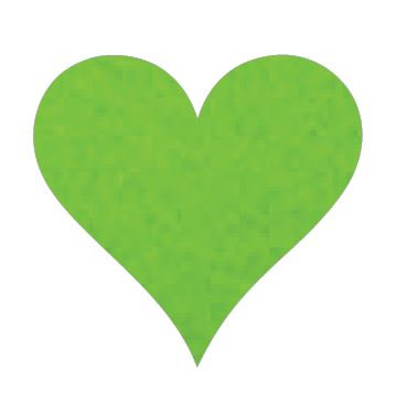 Heart pin board - 'lime'