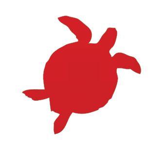 Turtle pin board - 'red'