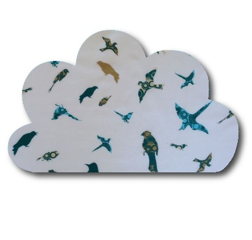 Cloud pin board - 'teal birds'