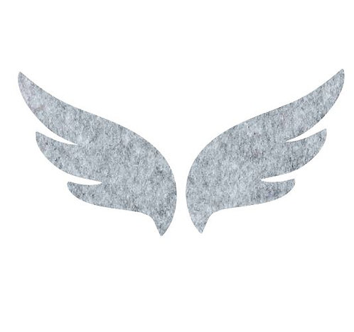 Pair of wings pin board 'grey fuzz'