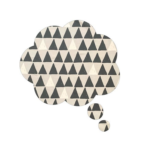 Thought bubble pin board -'pointy'