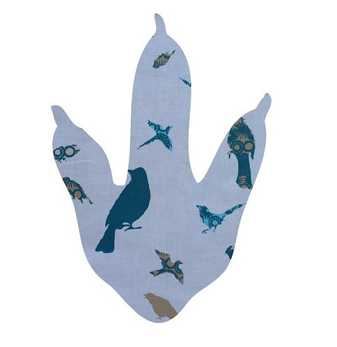 Dinosaur Foot - teal birds