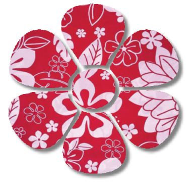 Flower pin board - 'hawaii'