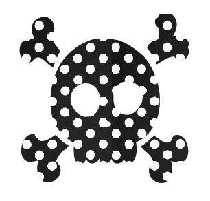 Skull & Crossbones pin board - 'dotty'