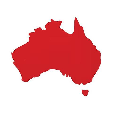 Australia Map pin board  - 'red'