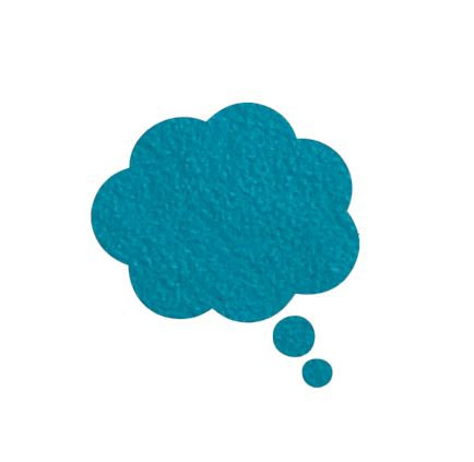 Thought bubble -'teal'