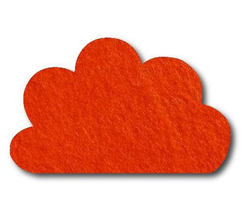 Cloud pin board - 'tangerine'