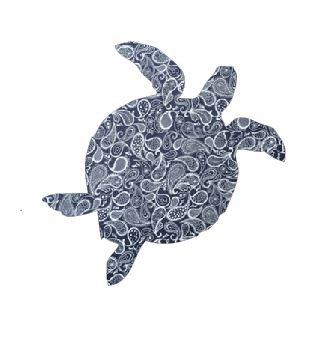 Turtle pin board - 'paisley'