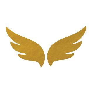 Pair of wings pin board 'yellow'