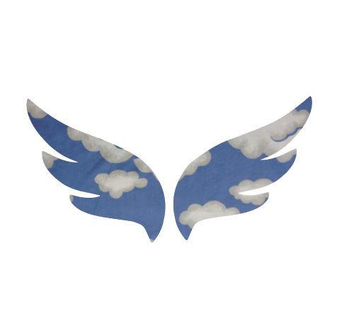 Pair of wings pin board 'blue yonder''