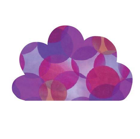 Cloud pin board - 'kaleidoscope'