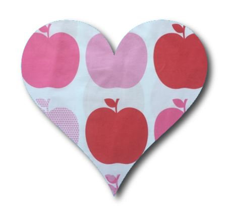 Heart pin board - 'them apples'