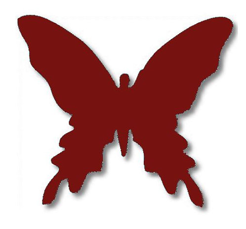 Butterfly pin board - 'burgundy'