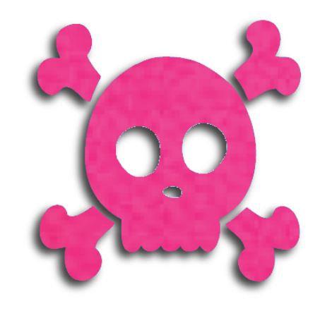 Skull & Crossbones pin board - 'hot pink'