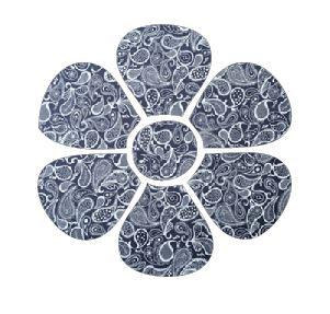 Flower pin board - 'paisley'