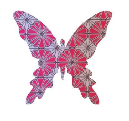Butterfly pin board - 'pink daisy'