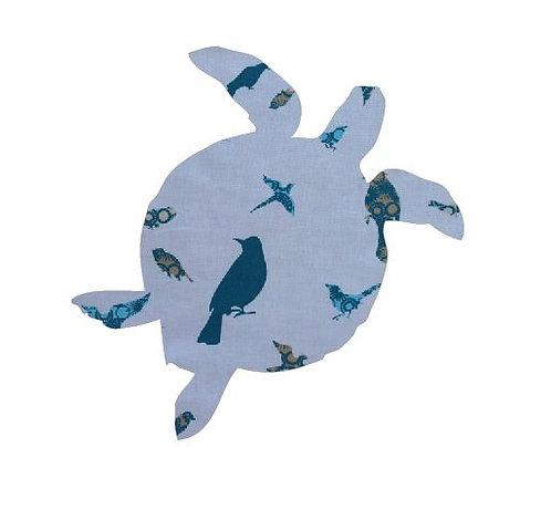 Turtle pin board - 'teal birds'