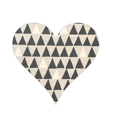 Heart pin board - 'pointy'