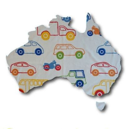 Australia Map pin board  - 'bumper'