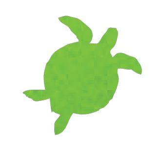 Turtle pin board - 'lime'