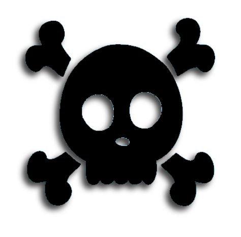 Skull & Crossbones pin board - 'black'
