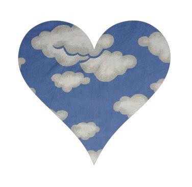 Heart pin board - 'blue yonder'