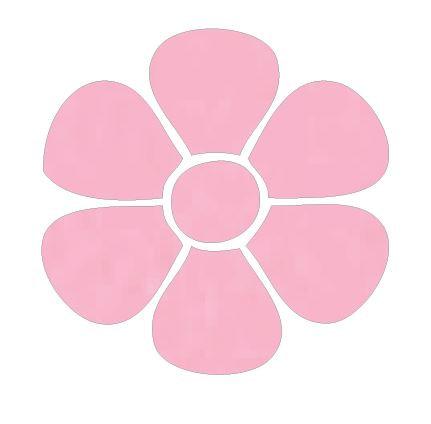 Flower pin board - 'pale pink'