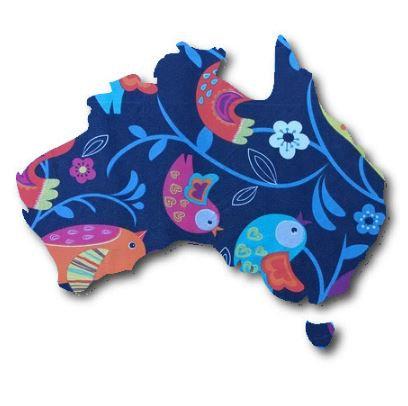 Australia Map pin board  - 'birdie'
