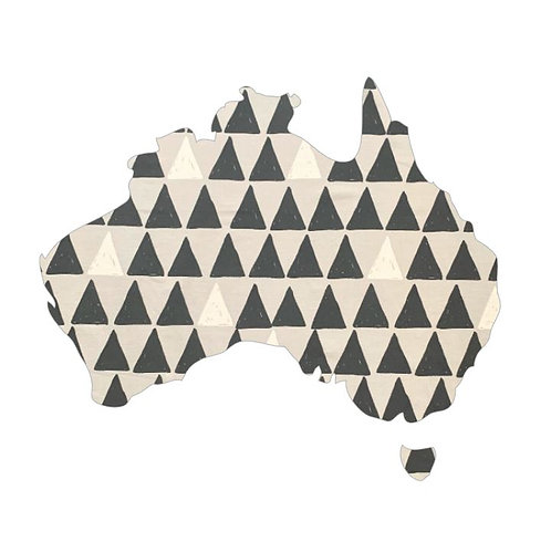 Australia Map pin board  - 'pointy'