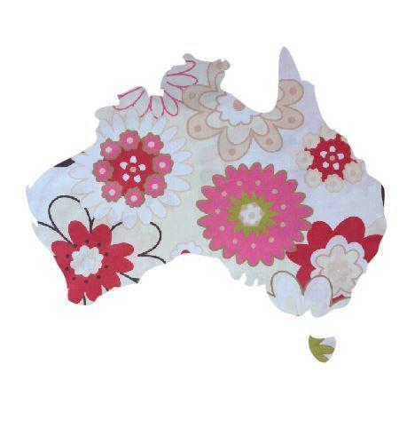 Australia Map pin board  - 'spring has sprung'