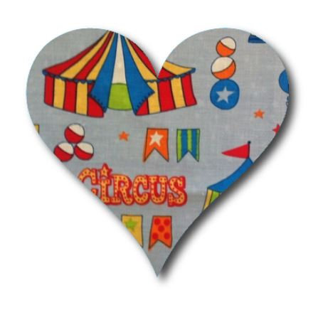 Heart pin board - 'circus'