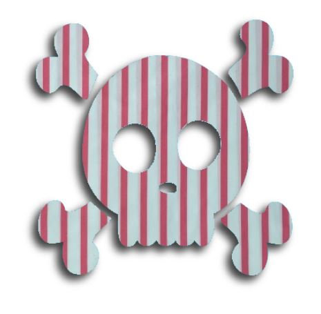 Skull & Crossbones pin board - 'p-line'
