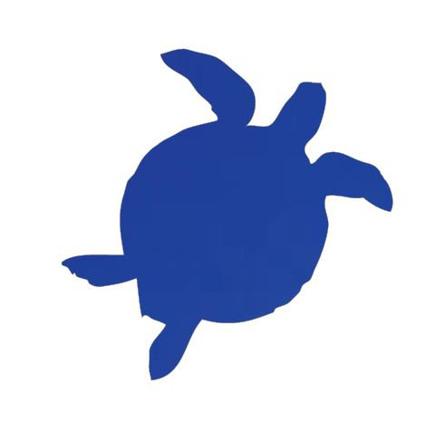 Turtle pin board - 'royal blue'
