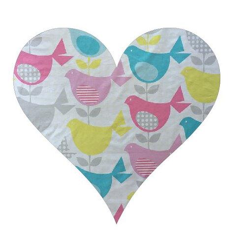 Heart pin board - 'birdie num'