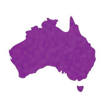 Australia Map pin board  - 'purple'