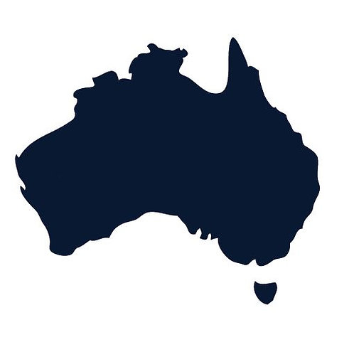 Australia Map pin board  - 'navy'