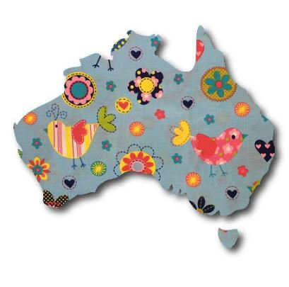 Australia Map pin board  - 'happy place'