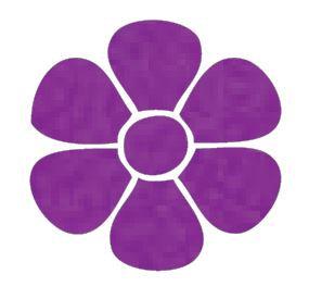 Flower pin board - 'purple'
