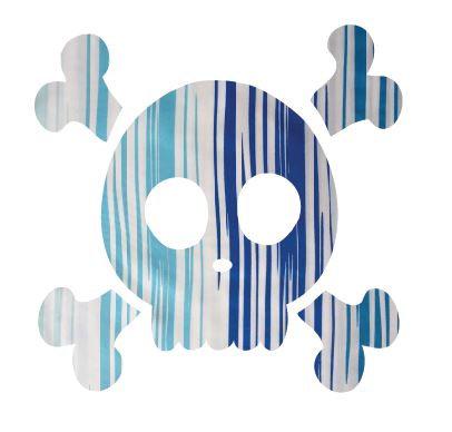 Skull & Crossbones pin board - 'blue streak'