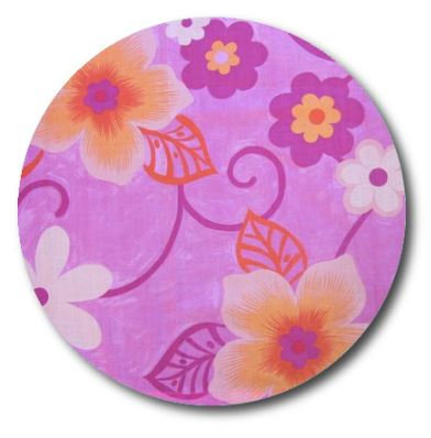 Circle pin board 'wild flowers'