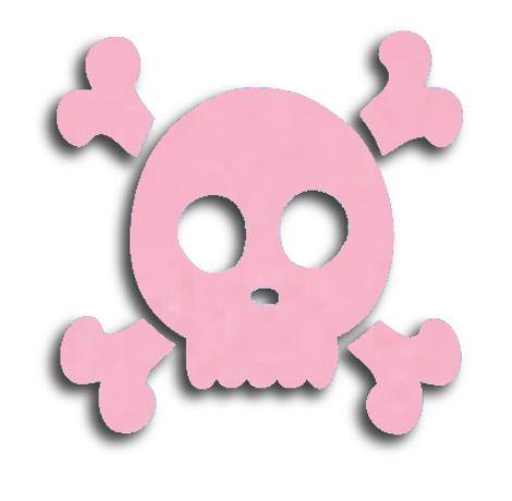 Skull & Crossbones pin board - 'pale pink'