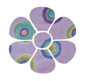 Flower pin board - 'lilac b'