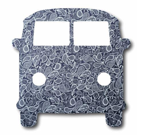 Kombi pin board - 'paisley'