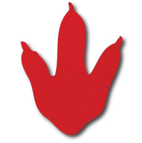 Dinosaur Foot - red