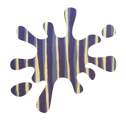 Splat pin board - 'blue poles'