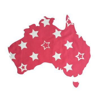 Australia Map pin board  - 'starsky'