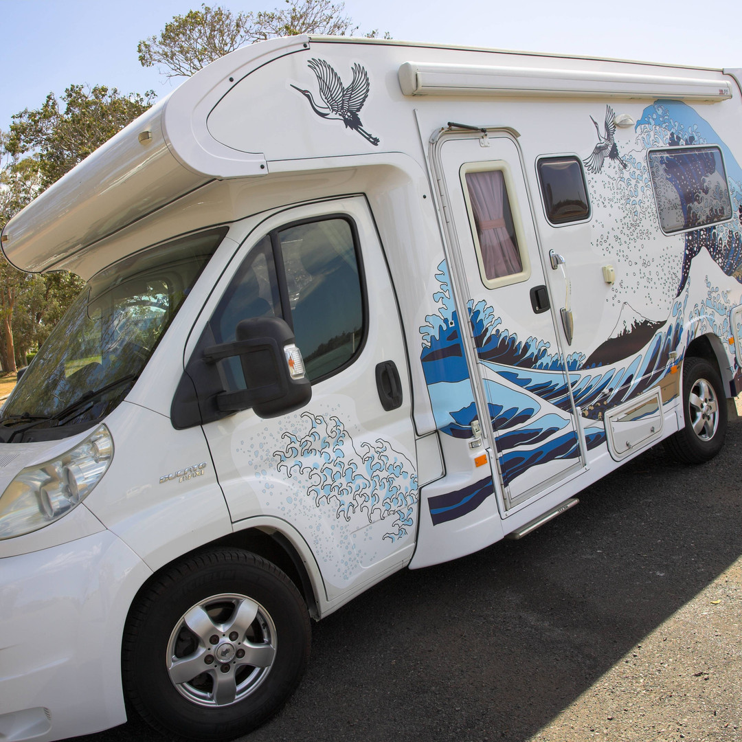 wrap design for motorhome