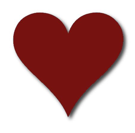 Heart pin board - 'burgundy'
