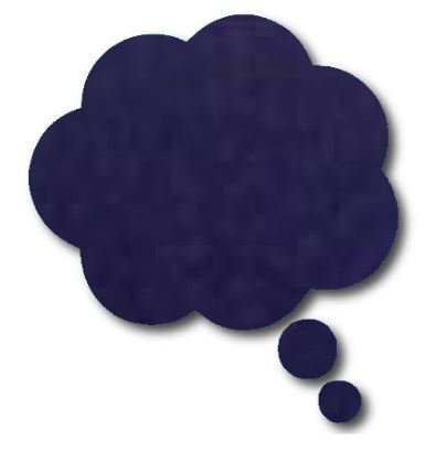 Thought bubble -'navy'
